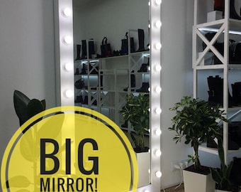 big mirror with lights Mirror with lights   Etsy big mirror with lights