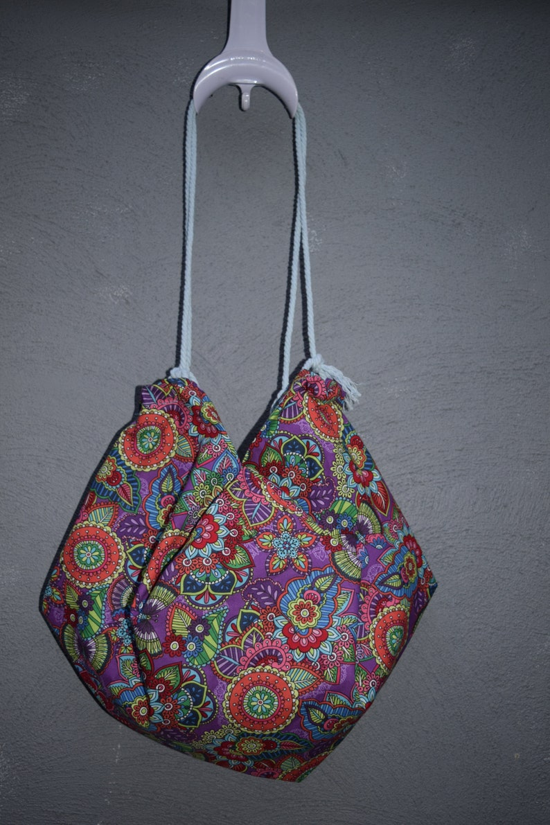 Purple Paisley Reusable Tote BagMarket Bag