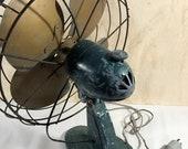 Antique Arctic Aire Oscillating Metal Fan Model F-183-A, Still works
