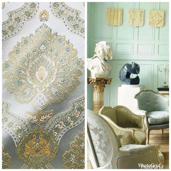 SWATCH Designer Velvet Upholstery Fabric Aqua Blue Interior Design