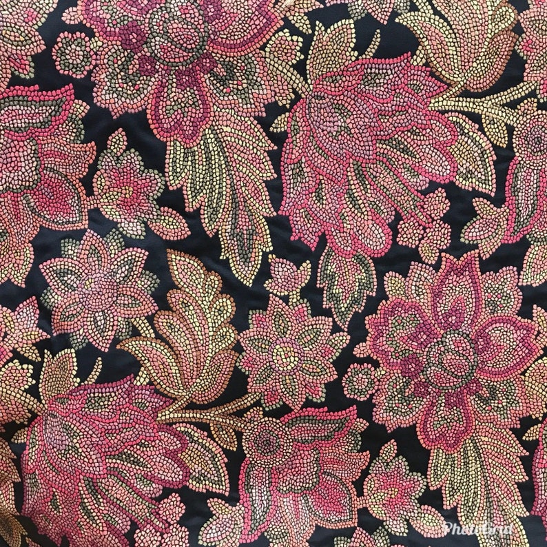 "Antique Pink Gold Brocade Jacquard Fabric Fat Quarter 18"" X 20"" SALE Damask"