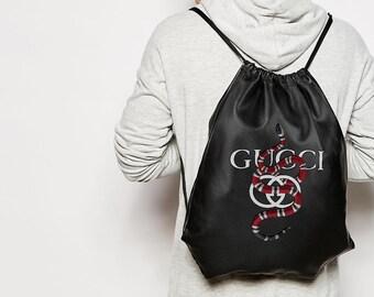 d1f06c95e6fc7 Gucci Backpack Bag Gucci Style Shoulder Bag Snake Print Sport Bag Nice Eco  PU Backpack Bag Moals Gucci Bag Unique Style Bag BC0155