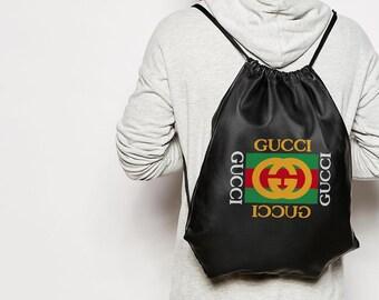 b369cc4d2ea0 Gucci Style Backpack Bag Logo Print Backpack Fashionable Stuff Sport Bag  Cool Black Bag For Your Stuff Gucci Shoulder Bag Unisex Bag BC0152