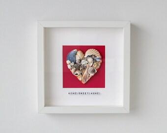 Sea Shell Art - Home Sweet Home - Handmade Gift