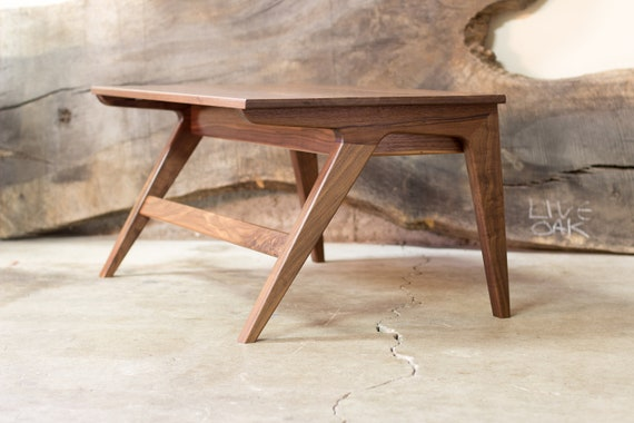 Mid Century Modern Walnut Coffee Table Etsy