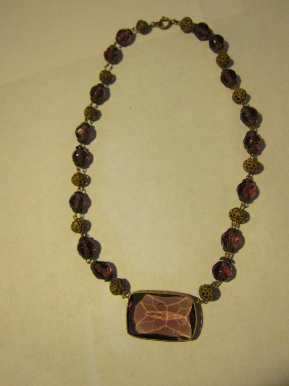 Incredible 1920s Ametheyst Necklace