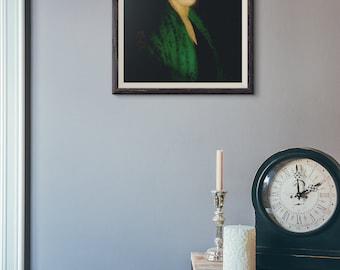 Custom Wall Clock Marie Laveau Clock Marie Laveau Art Birthday Gift Large Wall Clock Marie Laveau Gifts New Orleans Wall Clock