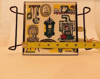 Vintage Ruth Reeves electric warming plate / trivet. Works great!