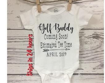 0792319dc Golf Buddy Pregnancy Reveal , Custom Pregnancy Announcement, Golf Baby,  Golf Pregnancy Announcement, We're Expecting, New Grandparent, Golf