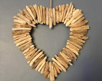 Gorgeous driftwood love heart wreath