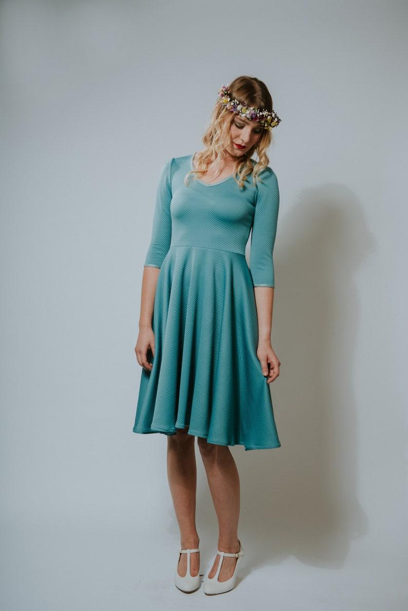50s Dress Autumn Crocus Blue  image 0