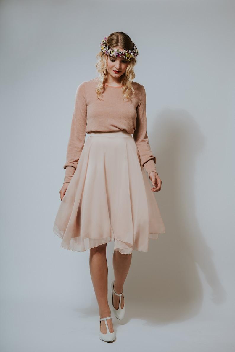 Chiffon dress cotton candy apricot knitted top image 0