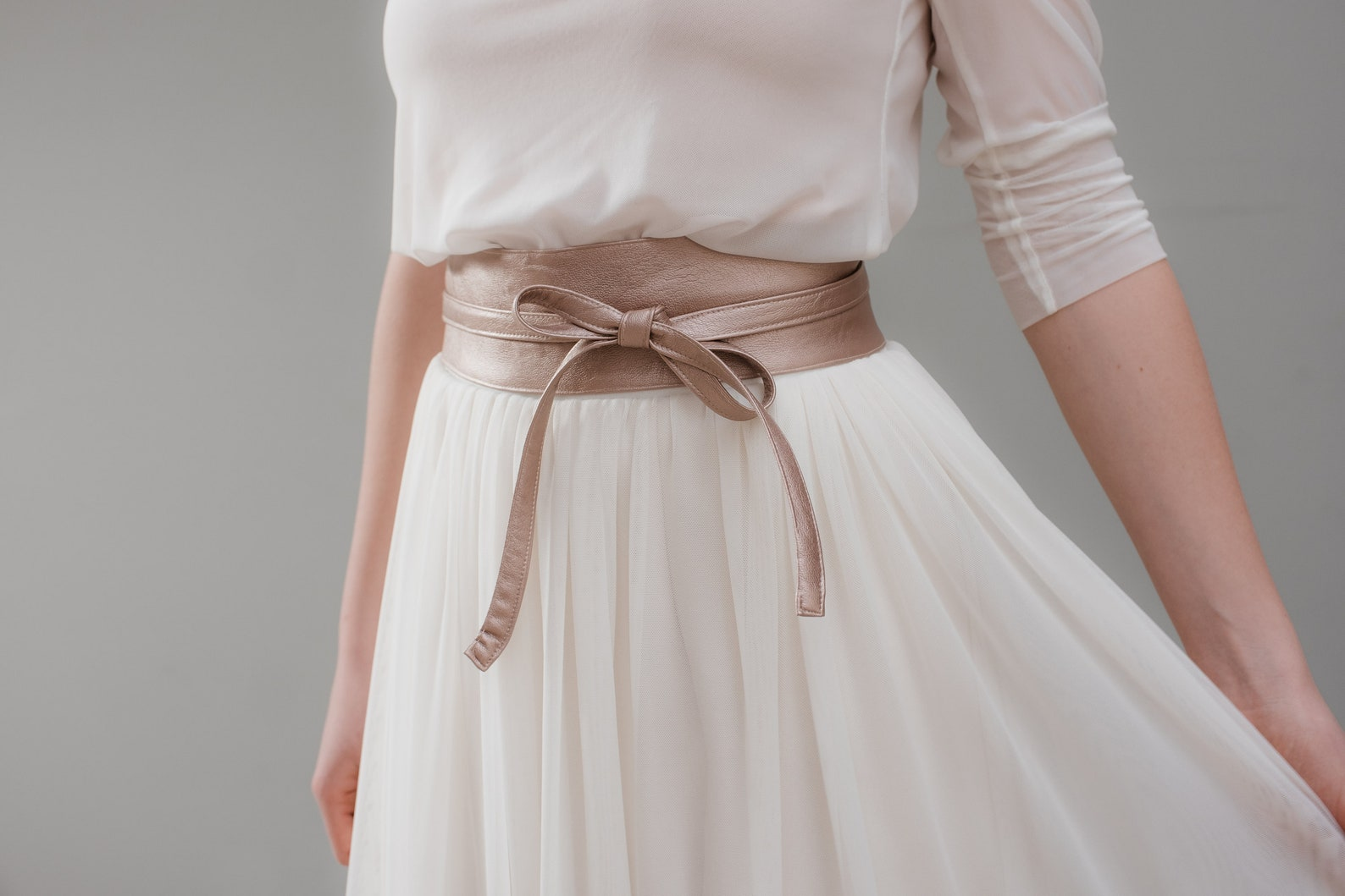 Brautgürtel Rosegold