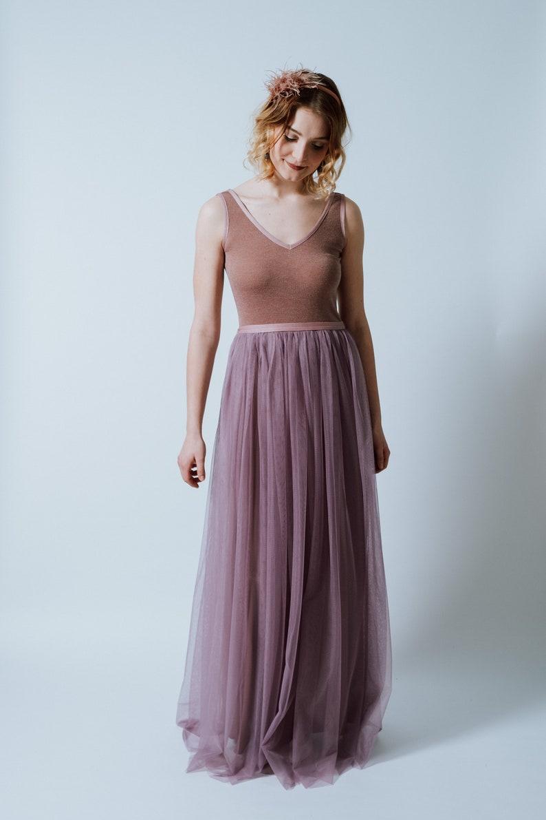 Floor-Lenght Tulle Dress Lavender  image 0
