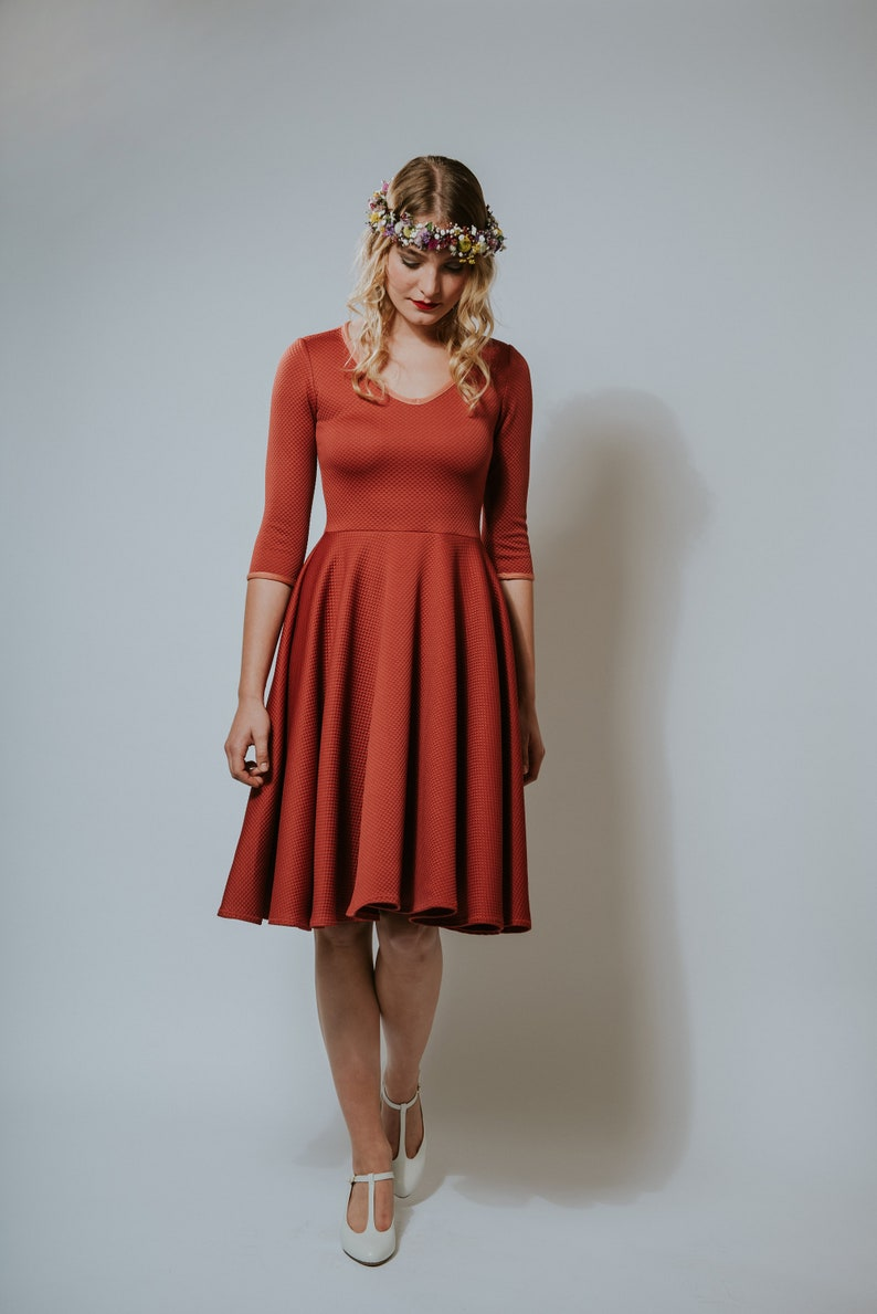 50s Dress Autumn Crocus Berry image 0
