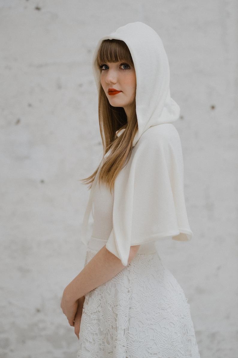 Braut Cape weiß