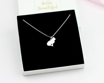 UK MOON NIGHT CAT PENDANT NECKLACE Chain Glass Silver Jewellery Gift Idea Kitten