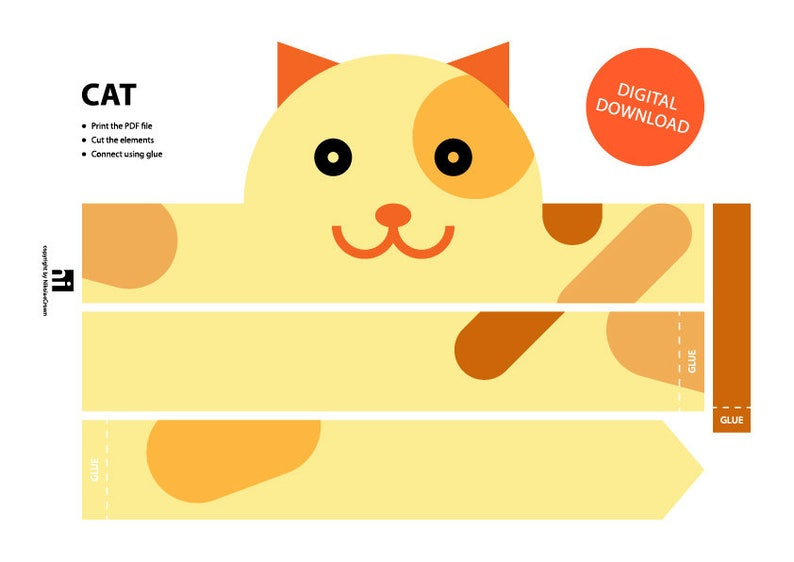 picture regarding Printable Crown named Cat Paper Crown - Printable Crown Template Animal Headband Animal Crown Printable Crown Cat