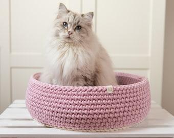 Crochet cat bed, Cat Nest, washable cat bed, round cat bed, cat cave, crochet cave, pet bedding. Cat cozy, cat accessories, for cat, cat mat