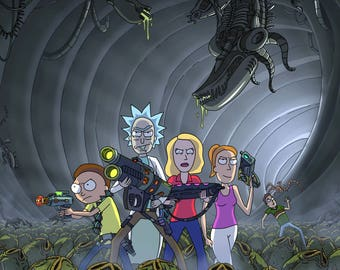 Rick and Morty vs Xenomorphs