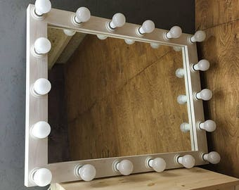 Showroom Hollywood Mirror With Lights Hollywood Mirror Etsy