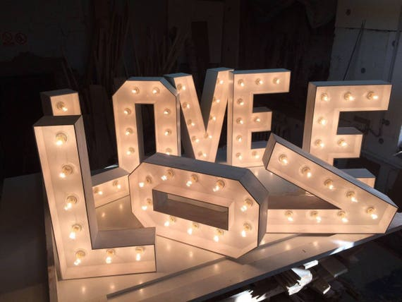 Marquee Letters Verlichting : Wedding letters love marquee letters large marquee numbers etsy