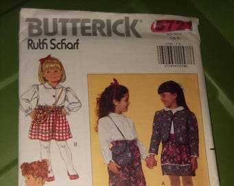Butterick Pattern #5721 Childrens Top and Bottoms size 1,2,3