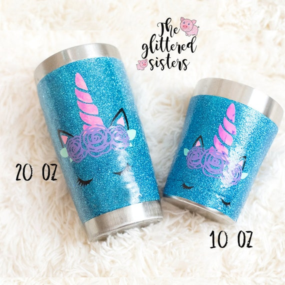 a70bf9778dc Unicorn Tumbler Stainless Steel Glitter Tumbler Glitter Unicorn Cup Glitter  Dipped Tumbler with included straw!
