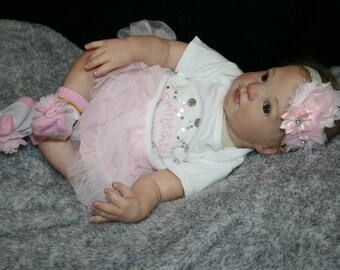 Reborn Baby Girl created from a Donna Rubert (Holly) Kit