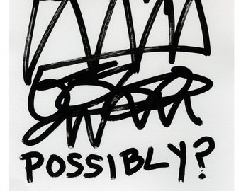 Unique Abstract Text Drawing: Words Expressing Uncertainty Lessen Your Impact #4