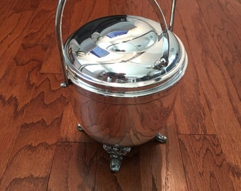 Sheridan Silver Plated Vintage Ice Bucket with Lid