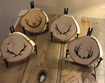 Original Hand Drawn Antlers