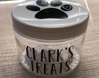 Travel Dog Treat Jar, Dog Treats Great Dog Treat Jar Customized