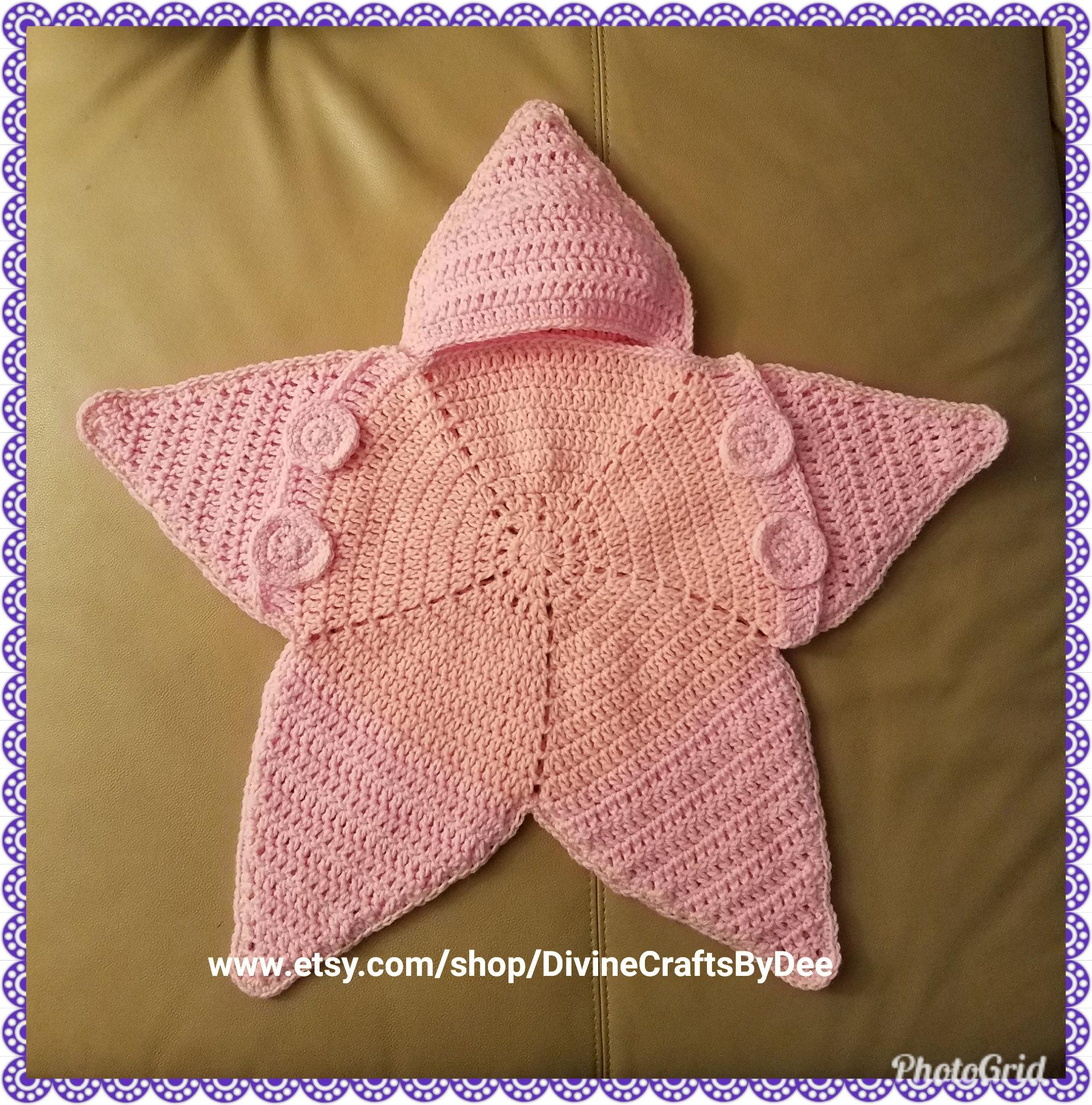 Crochet Newborn Baby Star Bunting Cocoon Etsy
