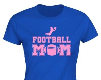 """Football Mom  Sports Mom Womens Ladies T-shirt by """"BOOFYshirts"""""""