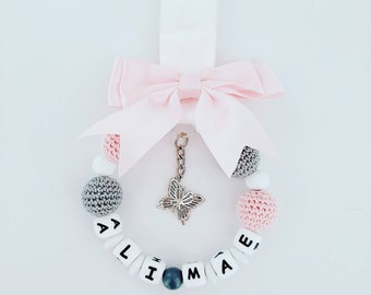 Personalised Mickey//Minnie Mouse Pram Charm Clip Baby/'s 1st Christmas Decoration