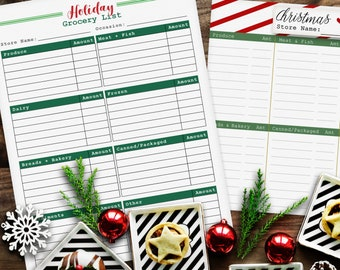 holiday planner holiday printables holiday fun christmas etsy