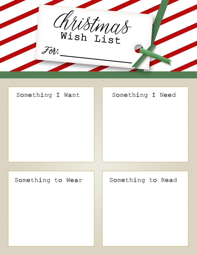 kids christmas list kids gifts parents kids activity christmas fun printable holiday list printable christmas gift list