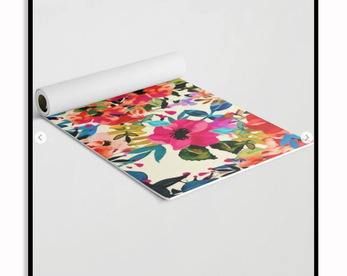 Featured listing image: Boho Blooms • Yoga Mat