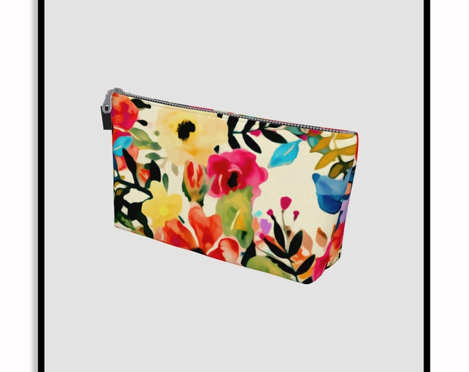 Featured listing image: Boho BLOOMS • Printed Pouch