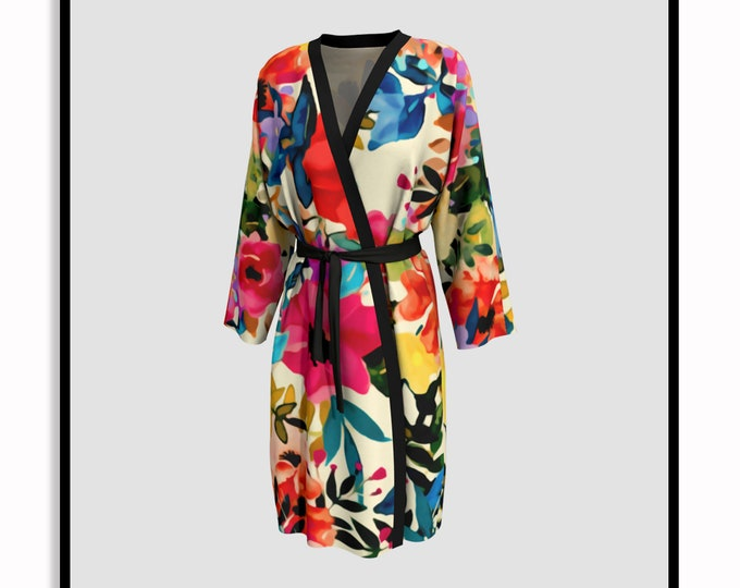 Featured listing image: Boho BLOOMS • Printed Robe