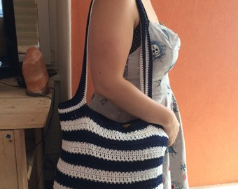 Crochet sailor bag