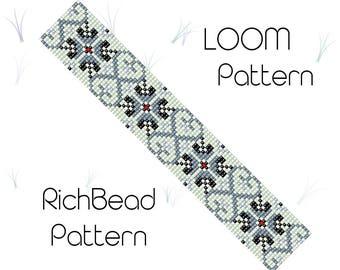 Horse Profile Bead Loom Pattern horse design horse border