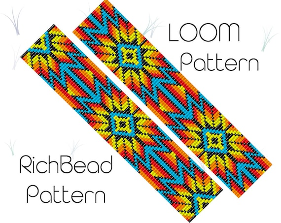 Loom Pattern Native American Inspired Beaded Bracelet Pattern Etsy