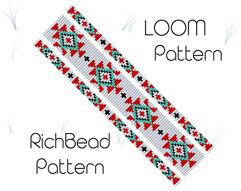 Bead loom patterns native american Tribal seed bead bracelet patterns Narrow bracelet Loom weaving Delica bead patterns