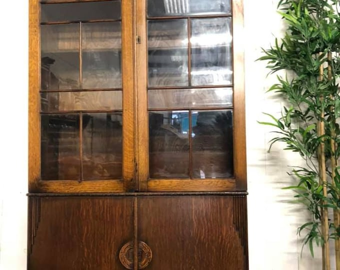 Large Art Deco Display Cabinet Bookcase