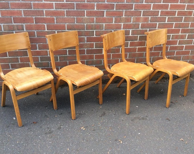 Set of 4 Chapel Chairs Dining Chairs Quirky Vintage Set