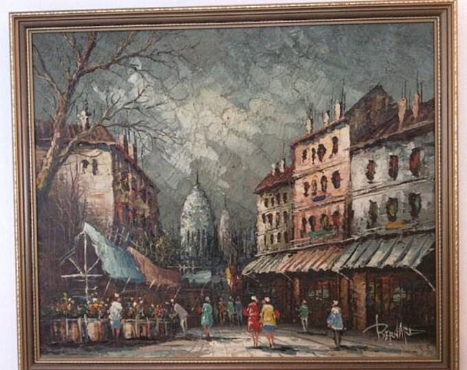 Painting by Bernard Parisian Scene