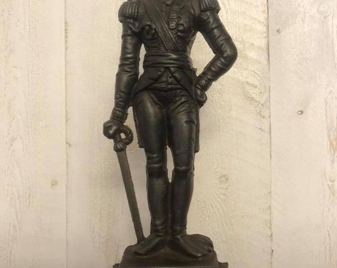 Vintage Cast Iron Duke of Wellington Figure or Door Stop