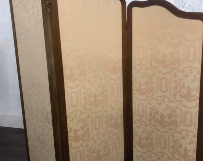 Large Victorian Folding Dressing Screen